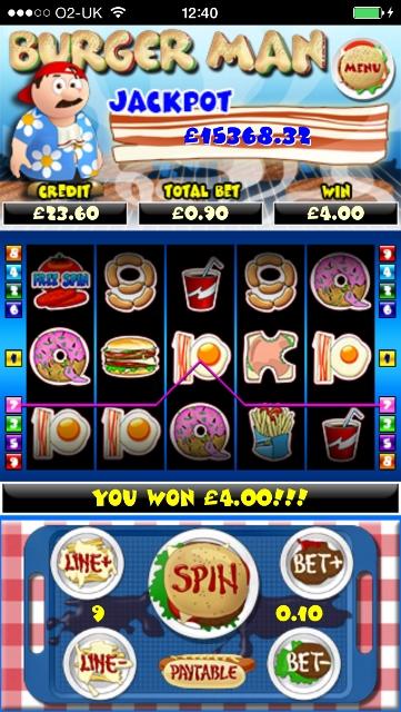 Burger Man slot screenshot