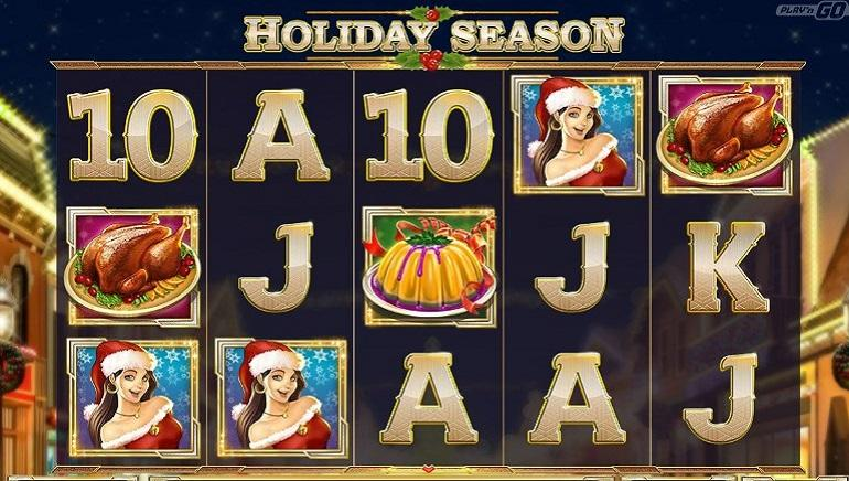 Holiday season slot screen shot