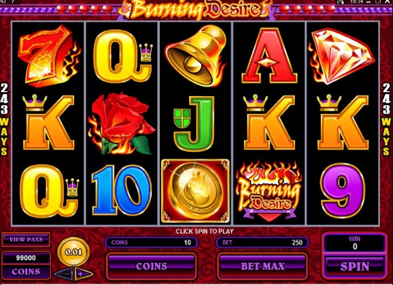 Burning Desire slot screenshot